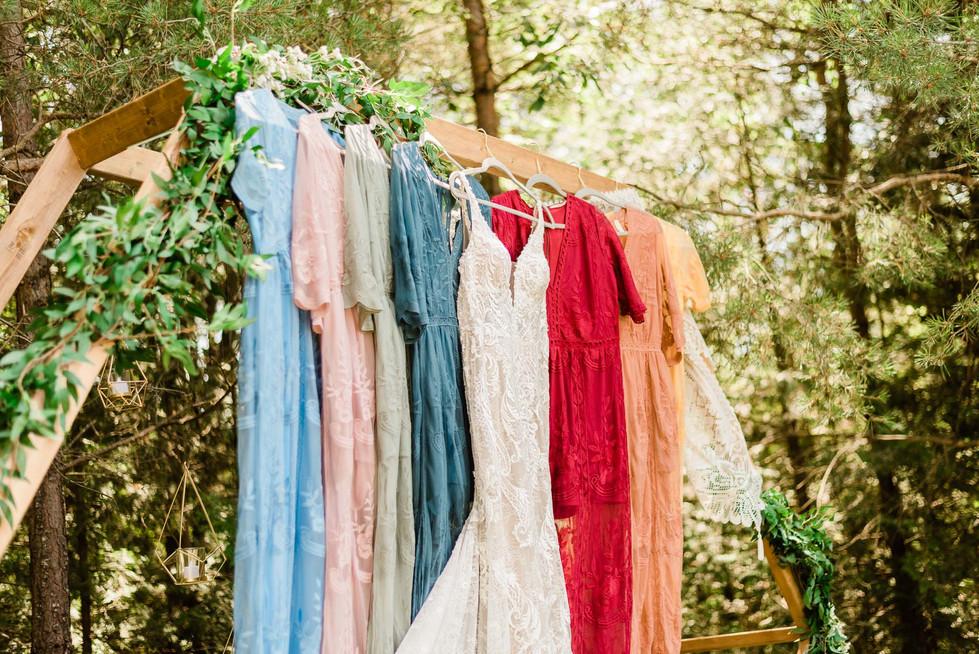 Colourful wedding dresses at Durham Wedding