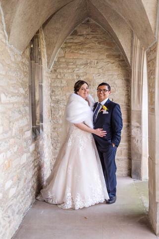 Couple St Catharine's Wedding