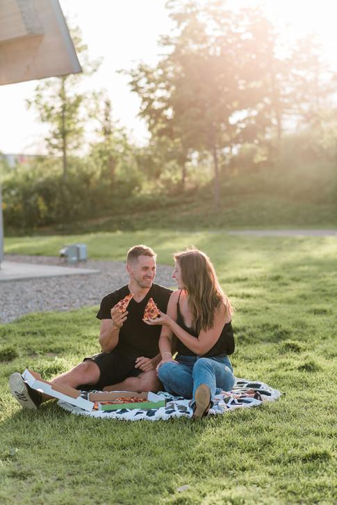 Toronto Engagement Photos Pizza Picnic at Trillium Park