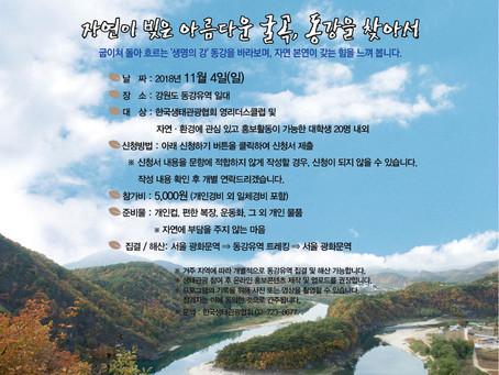 [생태우수지역 생태관광]11월 4일 동강유역 생태관광 참가자 모집