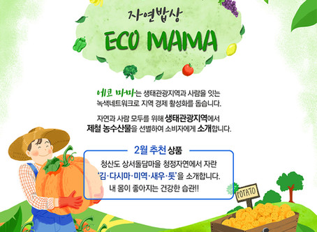 [에코마마] 청산도 상서돌담마을의 신선한 농수산물을 소개합니다.