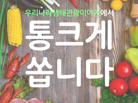 [카드뉴스] 우리나라생태관광이야기에서 통크게 쏩니다!