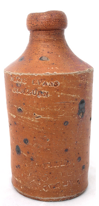george evans, ginger beer bottle, sydney archaeology, brewer, cordial maker, goulburn