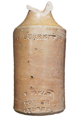 William Burrett Junior, ginger beer bottle, sydney archaeology, brewer, cordial maker, camden, nattai, brewarrina, cordial factory