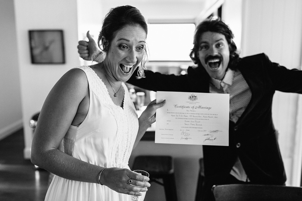 Fun Celebrant Happy Bride South Coast NSW
