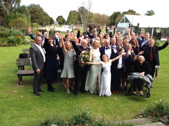 terara shoalhaven wedding group photo