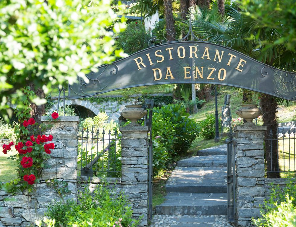 Ristorante da Enzo, Eingang