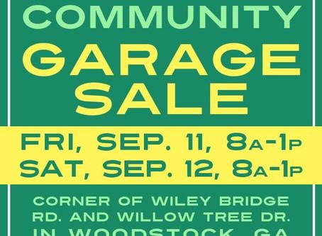 Neighborhood Garage Sale!