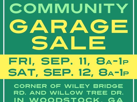 Neighborhood Garage Sale!