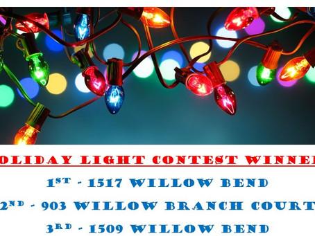 Holiday Light Contest Winners!