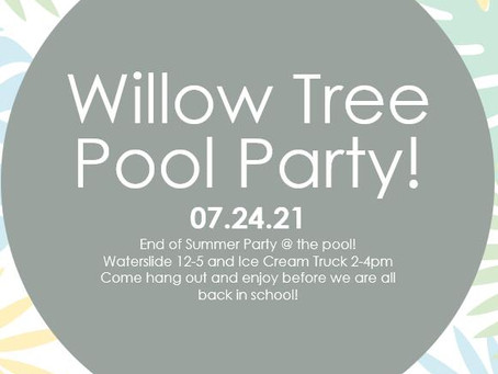 End of Summer Pool Party!