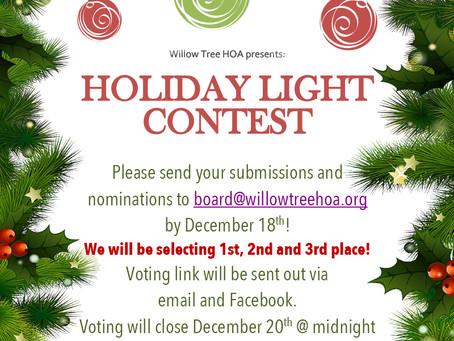 The Holiday Light Contest is back!