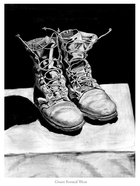 """""""Grunt Formal Wear"""" (Infantry Worn Desert Boots)"""