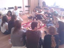 Gemma Calaf, meditaciones en grupo