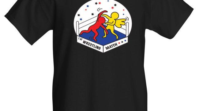 The Wrestling Match Reloaded shirt, black