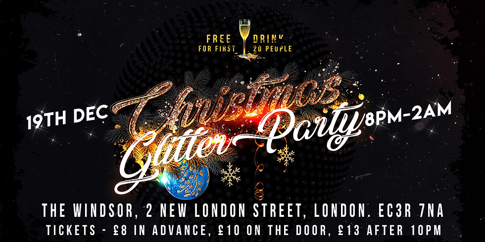 LONDON Club Indulge Christmas Glitter Party!