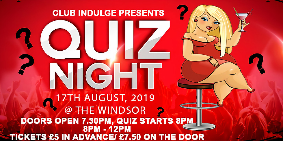 Quiz Night 2! 7.30pm - 12am