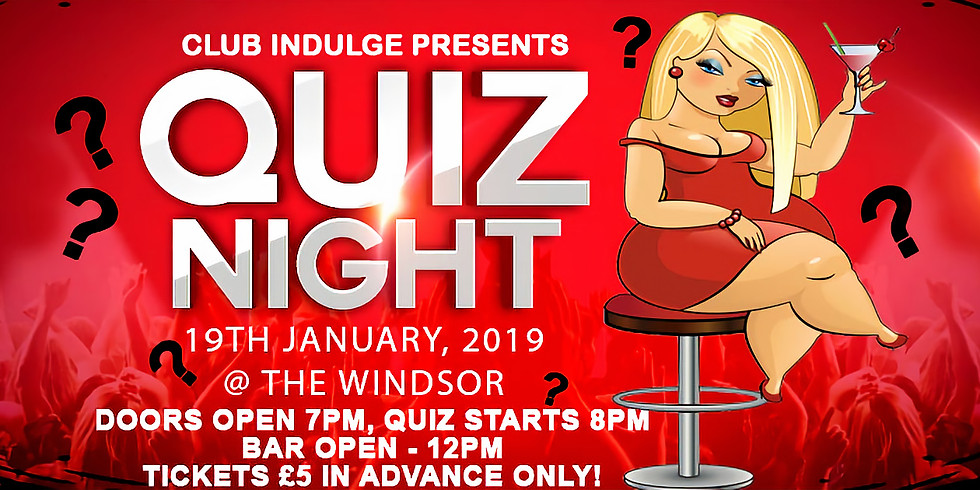 Quiz Night! Tickets now only available on the door. £7.50, quiz starts 8pm.