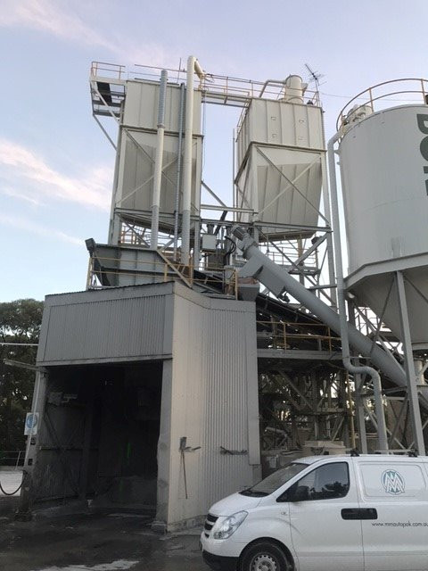 The two Fly Ash Silos position up high in the Plant