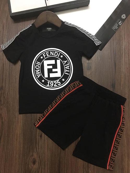 [FENDI]#펜디반팔 티셔츠+반바지 세트 K02068380