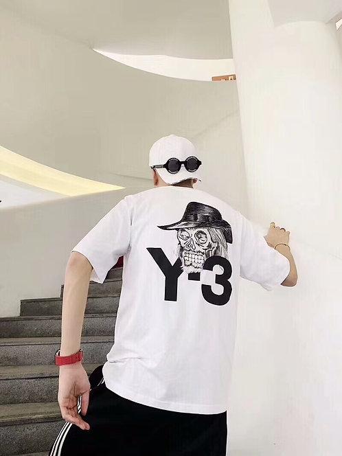 [Y-3 ]#요지야마모토 19ss 최신상 백스컬자수 라운드 티셔츠 2색 A08046180