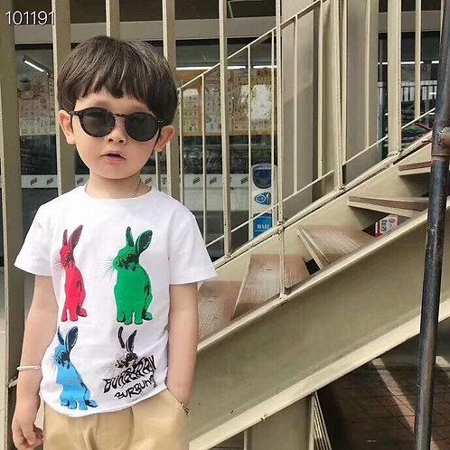[Burberry]#버버리 키즈 반팔 티셔츠 K02045180