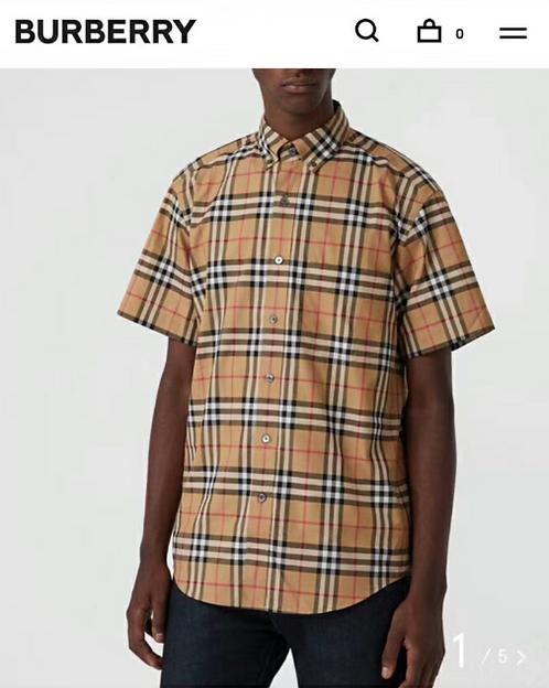 【Burberry】#버버리 신상 남 옐로우 슬리브리스 빈티지 체크 셔츠 C01081600