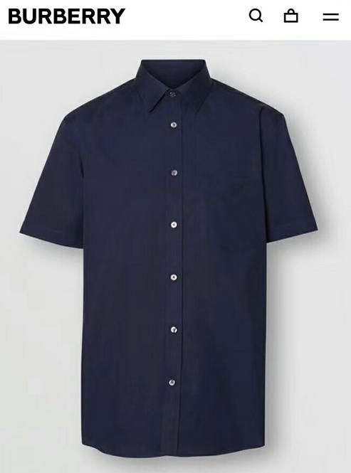 [Burberry]#버버리 남 TB원단 반팔 면 셔츠 C01081598
