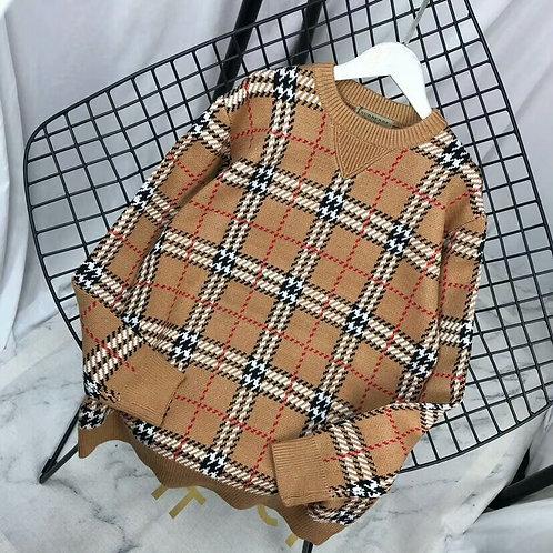 【BURBERRY】버버리 남성 체크무늬 스웨터 A14069201