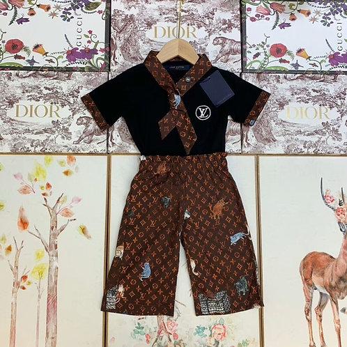 [LOUIS VUITTON ]#루이비통 키즈 티셔츠+팬츠+스카프 세트 K02064340