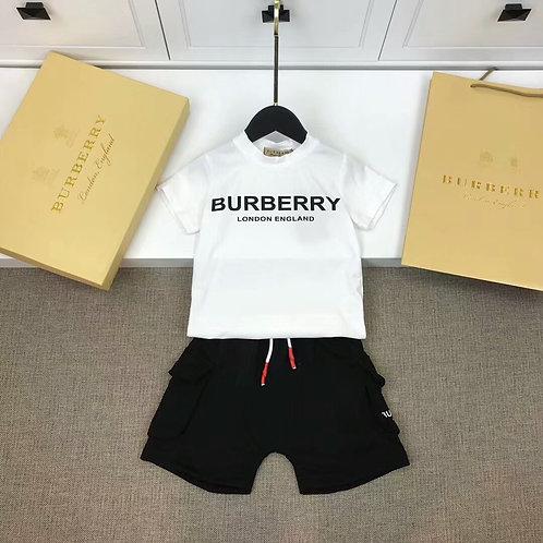 [Burberry ]#버버리 키즈 티셔츠 반바지 세트 3색 K08064336