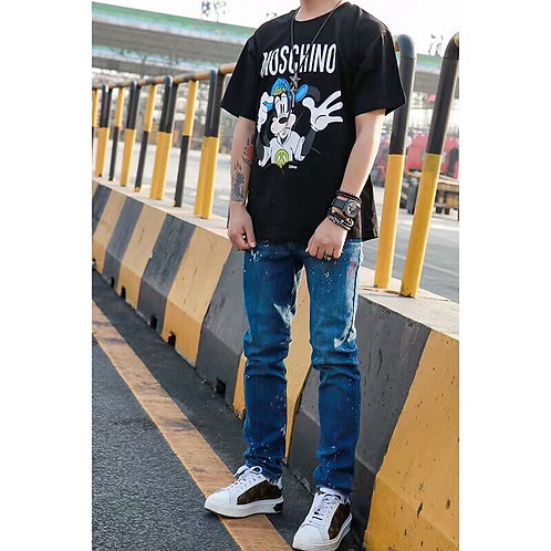 [MOSCHINO ]#모스키노&HM 리미티드 디즈니 한정판 티셔츠 A08043150