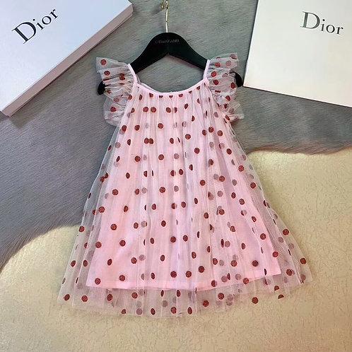 [Dior ]#디올 프리미엄 A라인 슬림형 도트 프린트 원피스 K08065356