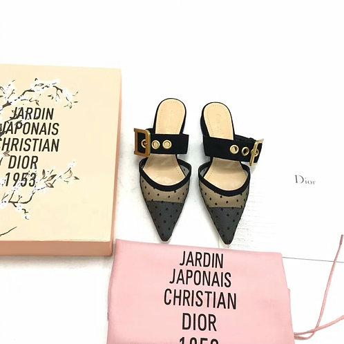 [Dior ]#디올 벨벳 미니 도트 자수장식 튤 J'adior 샌들 B15089520