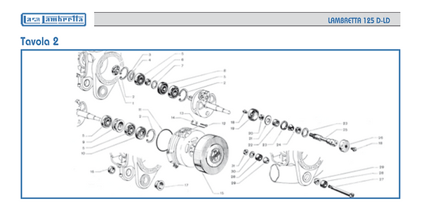 Lambretta LD 125 engine
