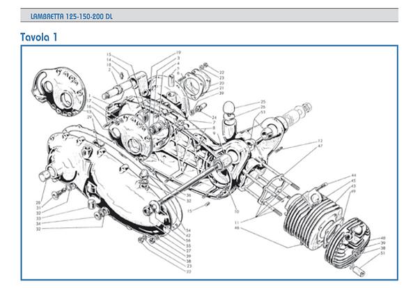 Lambretta GP crankcase