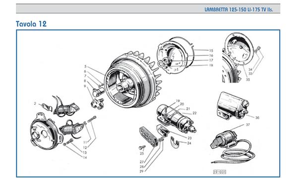 Lambretta series 2 flywheel