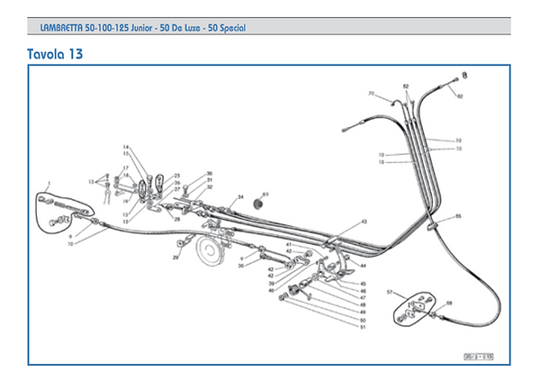 Lambretta J cable