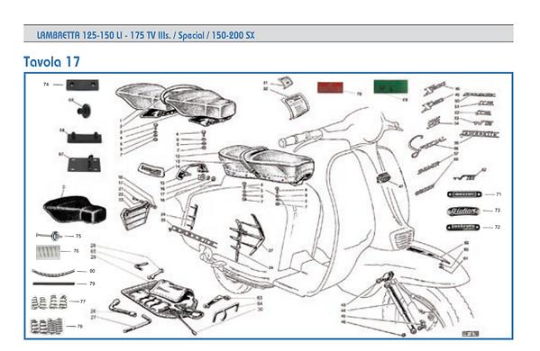 Lambretta series 3 seat