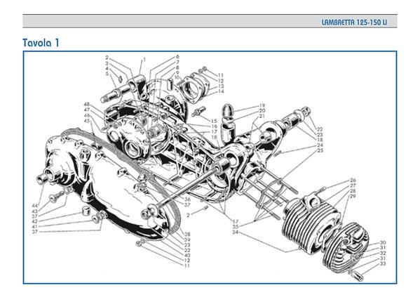 Lambrettta LI series 1 head cylinder