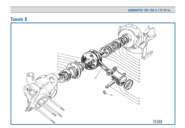 Lambretta series 2 piston