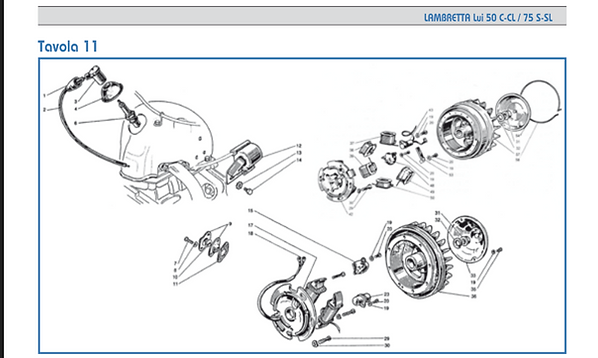 Lambretta Lui flywheel