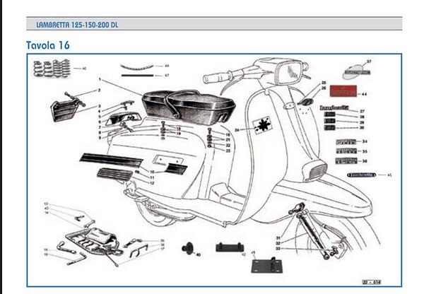 Lambretta GP seat