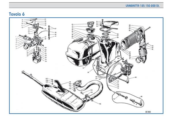 Lambretta GP Carburettor