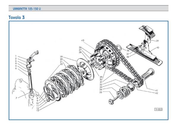 Lambretta LI series 1 clutch bell