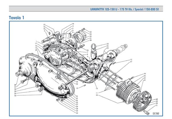 Lambretta series 3 crankcase