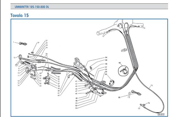 Lambretta GP cable