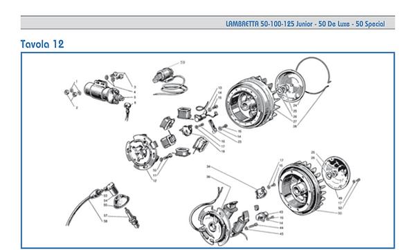 Lambretta J flywheel