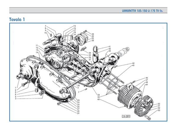 Lambretta series 2 crankcase