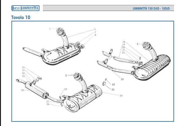 Lambretta LD 150 silencer
